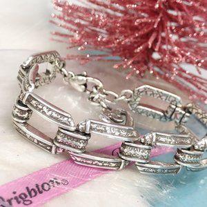 Brighton Jewelry - Brighton Open Rectangle Link Silver Heart Bracelet
